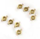 PandaHall Brass Links Connectors, Flower, Unplated, 10x6mm Brass Flower