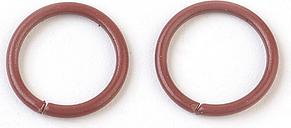 PandaHall Iron Jump Rings, Close but Unsoldered Jump Rings, SaddleBrown, 18 Gauge, 10x1mm; Inner Diameter: 8mm Iron Ring Brown