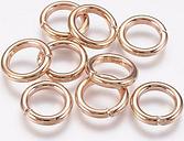 PandaHall Iron Jump Rings, Close but Unsoldered Jump Rings, Golden, 12 Gauge, 12x2mm; Inner Diameter: 8mm Iron Ring