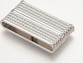 PandaHall Brass Magnetic Clasps, Rectangle, Platinum, 37.5x20x7mm, Hole: 4x34.5mm Brass Rectangle