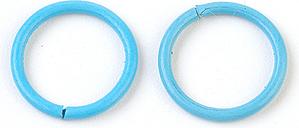 PandaHall Iron Jump Rings, Close but Unsoldered Jump Rings, SkyBlue, 18 Gauge, 10x1mm; Inner Diameter: 8mm Iron Ring Blue