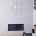 Radiateur horizontal anthracite Vitality 40 x 100cm 691 watts
