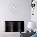 Radiateur design électrique horizontal - Noir - 63,5 cm x 119 cm x 4,6 cm – Delta