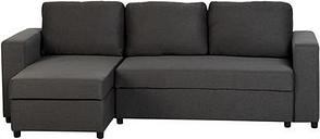 Seconique Dora Corner Sofa Bed in Dark Grey Fabric
