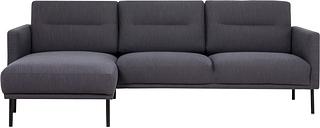 Dark Grey Fabric Corner Sofa Left Hand - Kyle