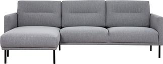 Light Grey Fabric corner Sofa Left Hand - Kyle