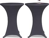 vidaXL Housse de table extensible 60 cm 2 pcs Anthracite