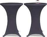 vidaXL Housse de table extensible 80 cm 2 pcs Anthracite