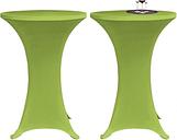 vidaXL Housse de table extensible 2 pcs 70 cm Verte