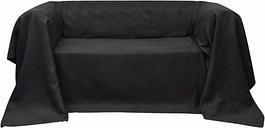 Housse Micro-suède de canapé Anthracite 210 x 280 cm