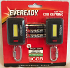 Eveready - Twin Pack - Cob Keyrings - Bright - Brand New