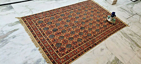 4x6 Indian Cotton Dabbu Block Print Rug Hand Knotted Dhurrie Persian Rugs