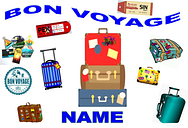 Bon voyage  / travel  cake topper a4  edible iced/ icing   personalised
