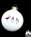 B: Puffinl, birds, Seaside, bone China Tree Decoration Bauble By Foley Pottery