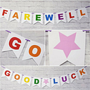 Leaving banner miss you bon voyage retirement travelling farewell bunting