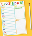 Daily Planner - Let's Get This Done - Student, Office, Work, Uni Hourly Planner