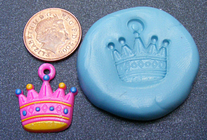 Reusable Crown Silicone Rubber Mould Food Safe Sugarcraft Jewellery Tumdee 1