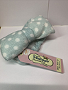 The Vintage Cosmetic Company Belle Make-up Headband Blue with White Dots New