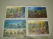 4 - Sonoran Desert  + Great Plains Prairie  + The World of Dinosaurs STAMPS NEW