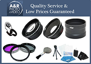 Accessory Kit & Wide Angle Telephoto Lens for Canon PowerShot SX60 SX50 HS SX70