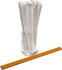 Individually Wrapped Yellow Paper Straws (Ø 6mm, 200mm) - Packs 100-200 UK MADE