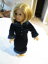 American Girl Doll of Today Blue Velvet Holiday 2000 Dress Outfit Retired