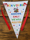 Personalised BON VOYAGE-  Bunting Banner Decoration  -  MULTI-BUY