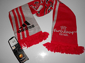 UEFA EURO 2004 PORTUGAL ADIDAS Suisse Scarf Fanschall Encharpe Official Football