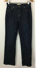 Levi's Perfectly Slimming 512 Boot Cut Dark Wash Flap Pocket Jeans Size 4 M