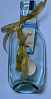 Recycled Small Yellow Tail Wine Bottle Spoon Rest with Spoon & Gold Ribbon