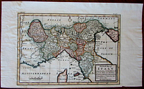 Northern Italy Italia Savoy Tuscany Lucca Piedmont c.1705-25 by Moll antique map