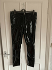 Womens Studio Pride Vinyl Black Size 8 Trousers, Skinny Fit Super Shiney