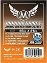 ORANGE BACKED Mayday Card Game Sleeves 66x91mm