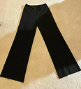 United Colors of Benetton Women's Wide-Leg Pants Black Size 38(XS) Made in Italy