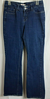 Levis 526 Jeans Womens Size 6M Slender Boot Faux Flap Pockets Mid Rise Dark Wash