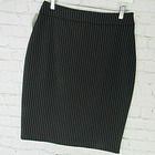 Georgiou Studio Skirt Womens Size 8 Black White Pinstripe