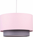 Pink & Grey Modern Ceiling Light Shade Pendant Easy Fit 2 Tier Fabric Lamp Shade