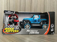 New Bright Remote Control RC Blue Road Ripper Jeep Car