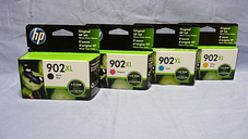 New Genuine HP 902XL Black & 902XL Color Ink Cartridges in Retail box Exp. 6/202