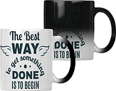 The Best Way To Get It Done Is To Begin Colour changing 11oz Mug hh652w