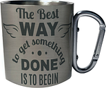 The Best Way To Get It Done Is To Begin Carabiner 11oz Mug hh652c