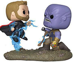 Marvel Pack de 2 POP Movie Moments Vinyl Figuras Thor & Thanos 9 cm Funko