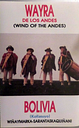 Wayra de Los Andes music from Bolivia  Cassette Tape