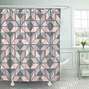 Shower Curtain, Hygge Scandinavian Pastel Pink and Grey Nordic