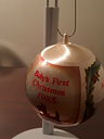 Vinrage Schmidt Baby First Christmas Ornament