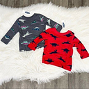 NWT Old Navy Baby Infant 3-6 Months Dinosaur Long Sleeve Tops Tees