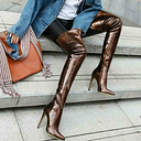 Sexy Women's Over Knee High Thigh Boots Pointy Toe Stilettos Heel Shoes Clubwear