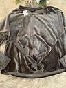 Ellen Tracy Valore Top Gray With Knotted Front Size L New With Tags