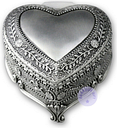 "Play ""Jingle Bells"" Alloy Heart Shape Music Box With Sankyo Musical Movement"