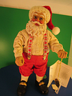Possible Dreams Clothtique Realistic 8 in. Standing Santa Claus Christmas Figure